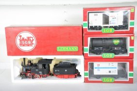 4pc Lgb Steam Freight Set