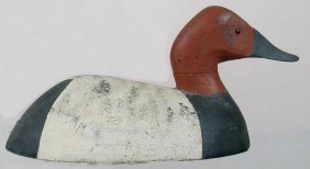 Bob Tail Can Drake Decoy From MI, Hillock Brand
