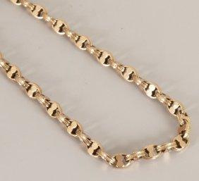 9ct Gold Fancy Belcher Link Guard Chain. Length - 1