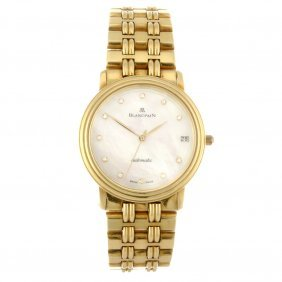 An 18k Gold Automatic Gentleman's Blancpain Bracelet