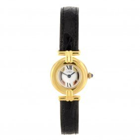 A Gold Plated Silver Quartz Lady's Must De Cartier