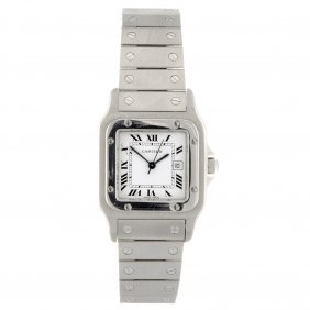 A Gentleman's Automatic Stainless Steel Cartier San