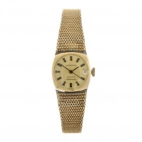 A Gold Plated Automatic Lady's Longines Admiral Bra