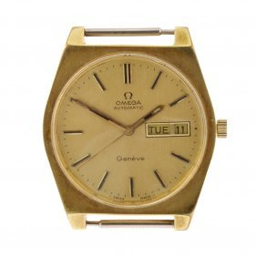 A Gold Plated Automatic Gentleman's Omega Geneve Wa