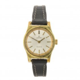 A Gold Plated Lady's Omega Geneve Wrist Watch.