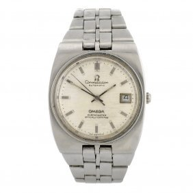 A Stainless Steel Automatic Gentleman's Omega Cons