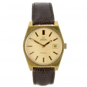 A Gold Plated Automatic Gentleman's Omega Geneve W