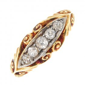 An Early 20th Century 18ct Gold Diamond Five-stone