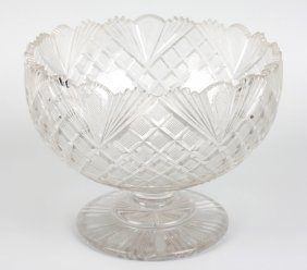 A 19th Century Cut Glass Pedestal Bowl