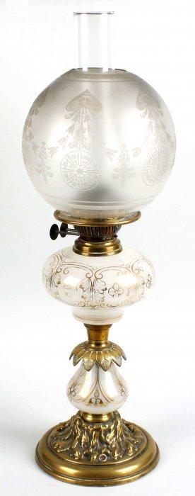 A Victorian Paraffin Lamp
