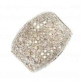 A 9ct Gold Diamond Band Ring.