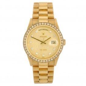(527065-1-A) An 18k Gold Automatic Gentleman's Rolex Da