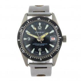 Combat - A Gentleman's Stainless Steel Bracelet Watch