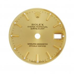 A Group Of Six Dials In The Style Of Rolex.