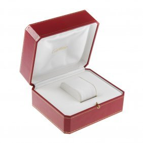 Cartier - An Incomplete Watch Box, Together With A