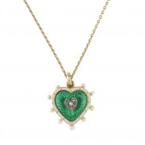An Early 20th Century Diamond, Seed Pearl And Enamel
