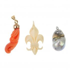 A Selection Of Three Pendants.