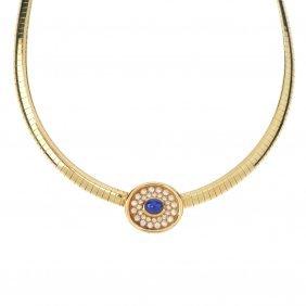 A Sapphire And Diamond Collar.