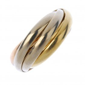 Cartier - An 18ct Gold 'trinity' Ring
