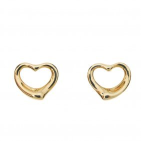 Tiffany & Co. - A Pair Of 18ct Gold 'open Heart'