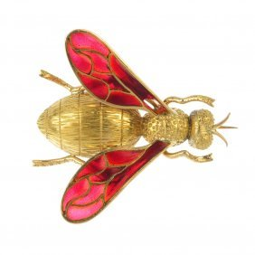 A Mid 20th Century Wasp Brooch.