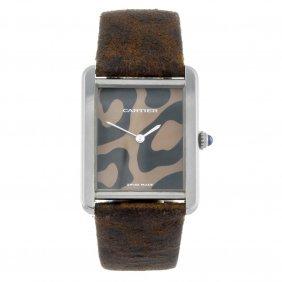 Cartier - A Tank Solo Wrist Watch. Stainless Steel