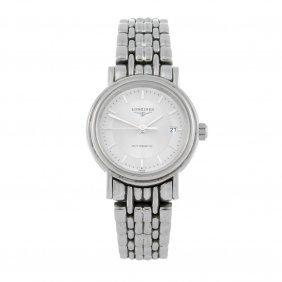 Longines - A Lady's Presence Bracelet Watch. Stainless