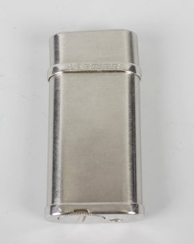 A Cartier Gas Cigarette Lighter, The Plain Brushed