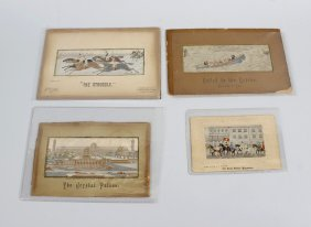 Six Thomas Stevens Of Coventry Woven Silk Stevengraphs,