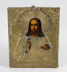 A 19th Century Russian Icon, Depicting Christ The