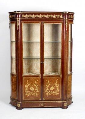 A French Style Inlaid Mahogany Vitrine Or Display