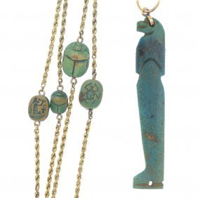 An Egyptian Amulet And Early 20th Century Longuard