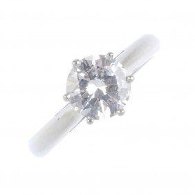 (201859) Boodles- A Platinum Diamond Single-stone Ring.