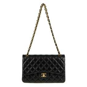 Chanel - A Jumbo Classic Double Flap Handbag. Featuring
