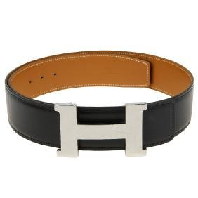 HermÈs - A Constance H Buckle And Two Leather Belts. To