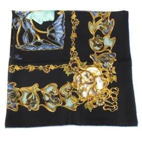 Lalique - A 'les Bÿoua De René Lalique' Silk Scarf.