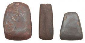 Three Hematite Celts