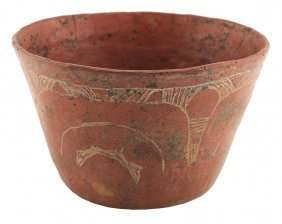 """6 7/16"""" Engraved Caddo Bowl. Early Design. Large"""