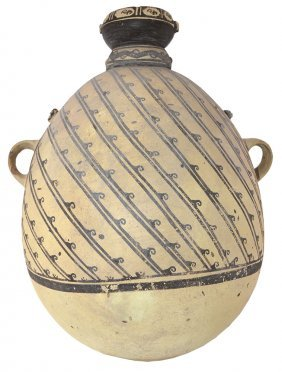 "18 3/4"" H. Amphora Jar. Peru. Fitzgerald Collection"