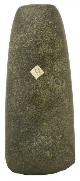 """8 1/8"""" Polished Hardstone Celt. Green Co, Il."""