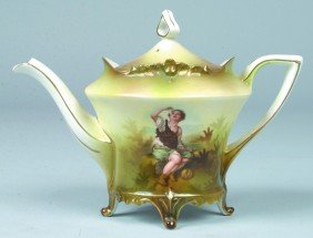 "RS Prussia Tea Pot, 4.75""d X 6.25""h, Mold 648; FD:"