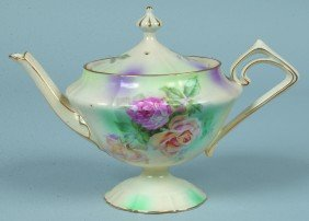 "RS Prussia Tea Pot, 4.5""h. X 5.5d., Triangular Shap"