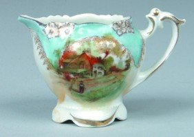 """RS Prussia Childs Creamer, 2.25""""h.; Floral Border M"""