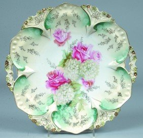 "RS Prussia Cake Plate, 11""d.; Mold 82; FD 31 With"