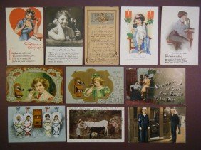 (Telegraphs And Telephones) 27 Vintage Postcards In