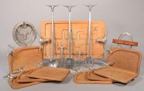 16 Pieces Of Steer Head Design Bruce Fox Cast Alum