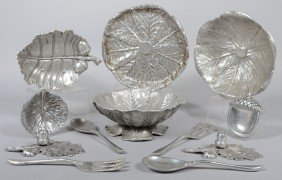 12 Pieces Of Bruce Fox Cast Aluminum. Cabbage Leaf