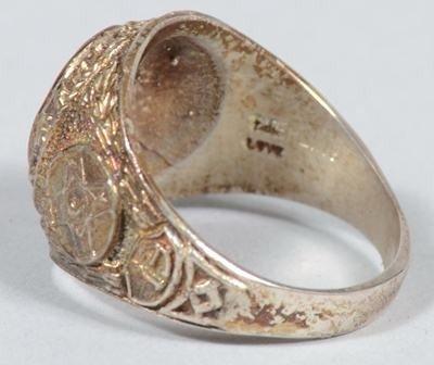 1240 two ku klux klan member rings dated 1961 with gar lot 1240