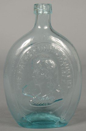 Aquamarine Dyottville Glass Works Washington And T