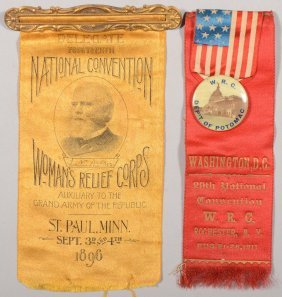 Lot Of (2) Women's Relief Corps  National Conventio